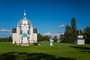 The St. Elias Ukrainian Orthodox Church exterior near Sirko, Manitoba, Canada.