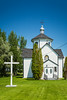 The Holy Trinity Ukrainian Catholic Parish Church at Stuartburn, Manitoba, Canada.