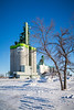 The Cargill grain terminal in winter at Morris, Manitoba, Canada.