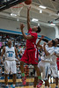 #0 Derrick Hall takes a lay-up for two points in Legacy High School's win against top ranked Seguin High School.  (Courtesy of Rodney Rodgers)