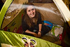 Andrea in the tent - 11-23-2013