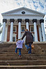 Mia and Lisa headed up the Rotunda steps - 11-28-2013