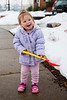 Mia with a shovel full of snow 2 - 2014-02-15