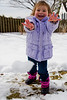 Mia throws another snowball - 2014-02-16