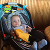 At Ground Round with Mommy.
