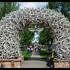 Jackson Hole, WY 8-27-14-4 Elk Antler Arches to the entrance of the  Park