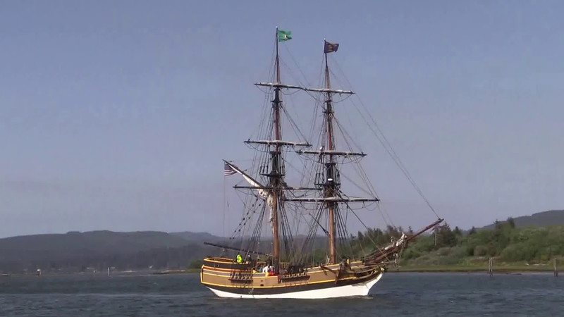 """Lady Washington under sail. Video by Jim Beer, TallSky Videography, Springfield, Ore. <a href=""""https://www.youtube.com/user/TallSky"""">https://www.youtube.com/user/TallSky</a> Except for brief excerpts for educational purposes or for news and information broadcasts or webcasts, this video may not be used for commercial purposes without the written consent of GHHSA."""