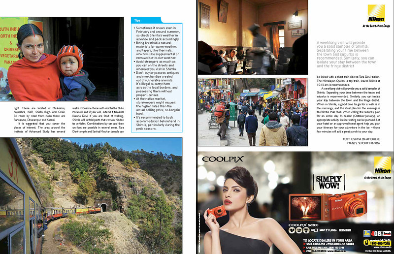 "Asian Photography http://www.asianphotographyindia.com/ April 2014 Issue - Shoot My City Feature Article - ""Shimla"" pictures by Suchit Nanda.  Asian Photography is India's premier and oldest photography magazine.  You can see the higher resolution images at: http://www.photonicyatra.com/"