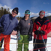 Roland Burgmann (UC Berkely), Kimber Tweet (U. Alaska Fairbanks), and Brent Henderson (UNAVCO) at the 2014 UNAVCO Science Workshop ski day. (Photo/Linda Rowan, UNAVCO)