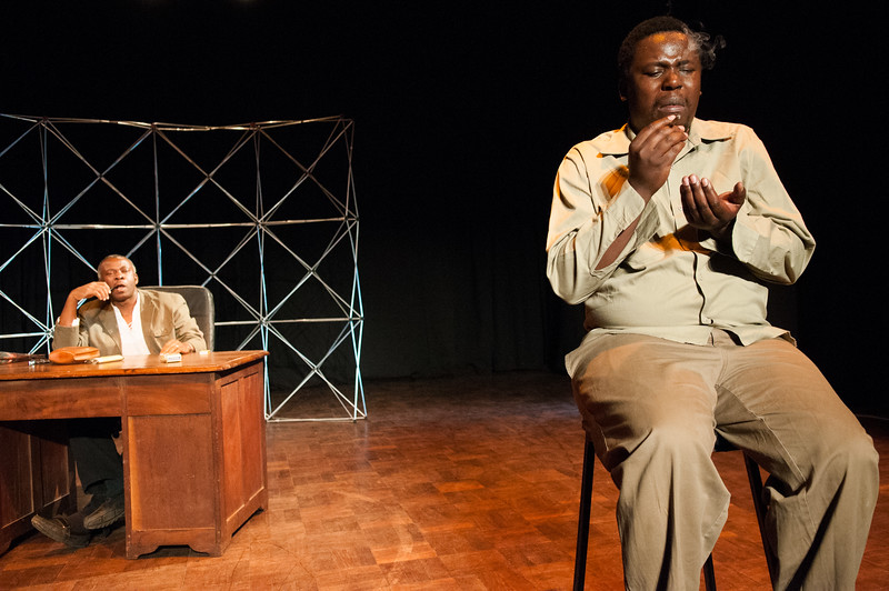 """2010-18 Harare - Theater """"Protest"""" from Vaclav Havel at the HIFA Festival."""