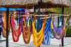 Hammocks for sale at the cruise ship terminal in Costa Maya, Mexico.