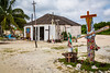The Catholic Church in the beachside village of Mahahual, Mexico.