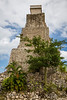 A Mayan tower at the entrance to the cruise ship terminal at Costa Maya, Mexico.