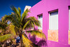 The color of Spanish architecture in Cozumel, Mexico.