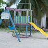Playground near the beach in Caye Caulker, Belize