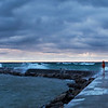 Stormy Day on the Frankfort Pier