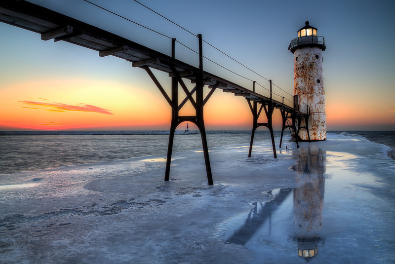 Manistee, Michigan Lighthouse and Pier