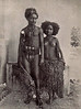 From the period of German rule, a postcard photograph of a young Outer Islands couple (about 1910)