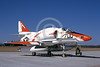 A-4USN-VT-7 0001 A static US Navy Douglas A-4E Skyhawk attack jet US Navy 150031 VT-7 EAGLES USS Lexington NAS Willow-Grove 4 March 1990 military airplane picture by Barry E Roop