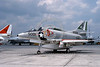 A-4USN-VA-205 0009 A static US Navy Douglas A-4L Skyhawk attack jet 148588 VA-205 GREEN FALCONS NAS Atlanta 7-1975 military airplane picture by Ray Leader