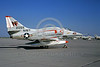 A-4USN-VA-94 0001 A static US Navy Douglas A-4E Skyhawk attack jet 152059 VA-94 SHRIKES USS BON HOMME RICHARD NAS Lemoore military airplane picture by Doug Olson