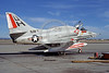 A-4USN-VC-7 0007 A static US Navy Douglas A-4F Skyhawk USN 154217 VC-7 REDTAILS 1-1977 military airplane picture by Michael Grove, Sr