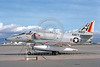 A-4USN-VC-7 0011 A static US Navy Douglas A-4F Skyhawk USN 154183 VC-7 REDTAILS NAS Moffett 3-1976 military airplane picture by Michael Grove, Sr