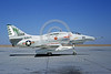 A-4USN-VA-155 0003 A static US Navy Douglas A-4F Skyhawk attack jet 155058 VA-155 SILVER FOXES USS Ranger NAS Lemoore 10-1968 military airplane picture by Doug Olson