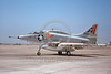 A-4USN-VC-7 00013 A static US Navy Douglas A-4E Skyhawk 14519 VC-7 REDTAILS NAS Miramar 5-1975 military airplane picture by Michael Grove, Sr