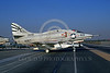 A-4USN-VA-209 0003 A taxing US Navy Douglas A-4L Skyhawk attack jet 149591 VA-209 AIR BARONS Long Beach 8-1971 military airplane picture by Michael Grove, Sr