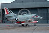 A-4USN-VC-7 0003 A static US Navy Douglas A-4F Skyhawk attack jet 155038 VC-7 REDTAILS NAS Miramar 5-1977 military airplane picture by Peter J Mancus