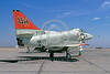 A-4USN-VC-7 00001 A static US Navy Douglas A-4C Skyhawk attack jet USN 147728 VC-7 TALLYHOERS NAS Miramar 6-1973 military airplane picture by Peter J Mancus