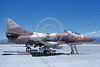 A-4USN-VA-127 0025 A static US Navy Douglas A-4F Skyhawk USN 154183 VA-127 DESERT BOGEYS NAS Fallon 6-1991 military airplane picture by Michael Grove, Sr