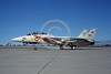 F-14USN-VF-114 0065 A taxing Grumman F-14 Tomcat USN VF-114 AARDVARKS commander's airplane USS Enterprise NAS Fallon 9-1983 military airplane picture by Michael Grove, Sr