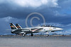 F-14USN-VF-51 0013 A taxing USN Grumman F-14 Tomcat jet fighter 160655 VF-51 SCREAMING EAGLES commanding officer's airplane NAS Fallon 10-1982 military aiplane picture by Michael Grove, Sr