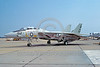 F-14USN-VF-101 0005 A static Grumman F-14 Tomcat USN jet fighter 159603 VF-101 GRIM REAPERS NAS Oceana 5-1980 military airplane picture by Stephen H Miller