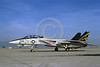 F-14USN-VF-124 0021 A static Grumman F-14 Tomcat USN 161620 VF-124 GUNFIGHTERS commander's airplane NAS Fallon 2-1992 military airplane picture by Michael Grove, Sr