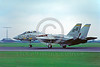 F-14USN-VF-32 0003 A landing Grumman F-14 Tomcat USN jet fighter VF-32 SWORDSMEN USS John F Kennedy 8-1978 military airplane picture by S W D Wolf