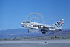 A-7USN-VA-22 0010 A landing Vought A-7E Corsair II USN attack jet 159655 VA-22 FIGHTING REDCOCKS commander's aircraft USS Kitty Hawk NL code NAS Fallon 1-1980 military airplane picture by Michael Grove, Sr