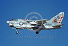 A-7USN-VA-86 0002 A landing Vought A-7E Corsair II USN attack jet 1575170 VA-86 SIDEWINDERS USS Nimitz Don't Tread On Me 8-1978 military airplane picture by Michael Grove, Sr