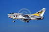 A-7USN-VA-192 0008 A landing Vought A-7 Corsair II USN 157497 VA-192 GOLDEN DRAGONS USS America 11-1978 military airplane picture by Michael Grove, Sr