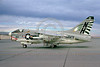 A-7USN-VA-195 0001 A static Vought A-7E Corsair II USN attack jet 158822 VA-195 DAM BUSTERS USS Kitty Hawk NAS Leemore 11-1973 military airplane picture by Peter J Mancus