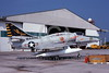 A-4USMC-VMA-331 0005 A static USMC Douglas A-4M Skyhawk attack jet 158153 VMA-331 BUMBLEBEES 6-1975 military airplane picture by L B Sides