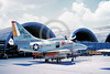 A-4USMC-VMA-311 0003 A static Douglas A-4E Skyhawk USMC 150105 VMA-311 TOMCATS with bombs in Vietnam 5-1972 military airplane picture by Don Logan