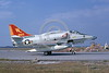 A-4USMC-VMA-311 0007 A taxing Douglas A-4M Skyhawk USMC 158165 VMA-311 TOMCATS 11-1974 military airplane picture by Terry Kerry