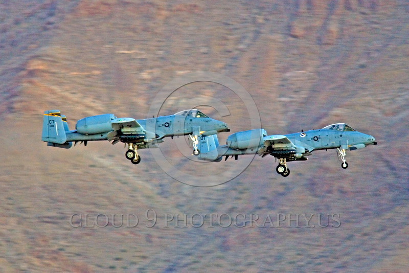 A-10ANG-CT 0008 Two landing Fairchild A-10 Thunderbolt II Connecticut Air National Guard CT code Nellis AFB military airplane picture by Peter J Mancus