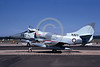 A-4Forg-Aust 00003 A static Australian Navy Douglas A-4G Skyhawk attack jet 154903 882 724 Sqd 7-1983 military airplane picture by Robert N Smith