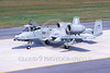 A-10USAF 00279 A taxing USAF Fairchild A-10 Thunderbolt II attack jet 80163 OS code 10-2001 military airplane picture by Peter R Foster