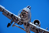 A-10USAF 00094 A landing sharkmouth Fairchild A-10 Thunderbolt II Warthog USAF attack jet 11-2001 military airplane picture by Peter J Mancus