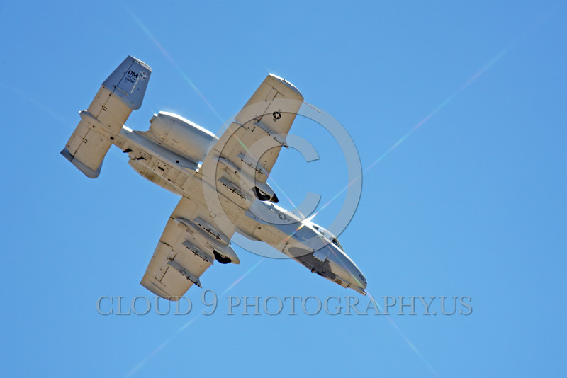 A-10USAF 00398 A flying Fairchild Republic A-10 Thunderbolt II Warthold USAF attack jet military airplane picture by Peter J Mancus